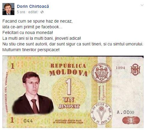 PC: facebook/ Dorin Chirtoacă