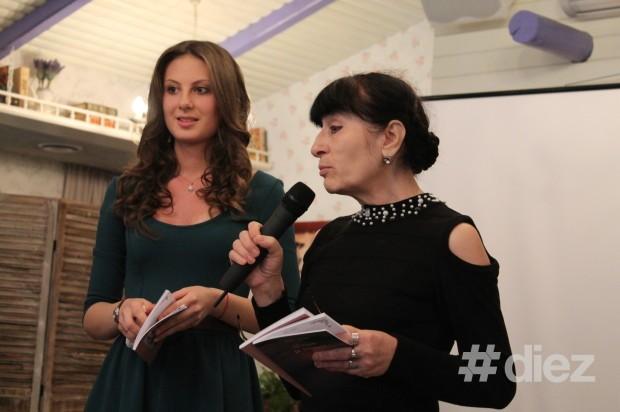 """Doina Strulea și Zina Izbaș la lansarea volumul său de poezii """"Vioara din mansardă"""""""