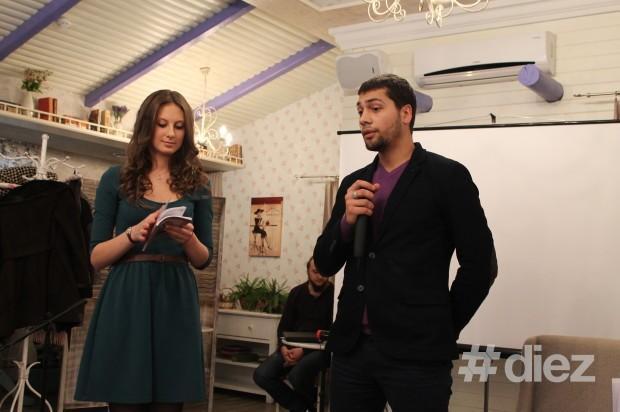 """Doina Strulea și Sergiu Munteanu la lansarea volumul său de poezii """"Vioara din mansardă"""""""