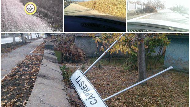 (foto) Cum își bat joc moldovenii de investițiile americane în drumul Sărăteni – Soroca