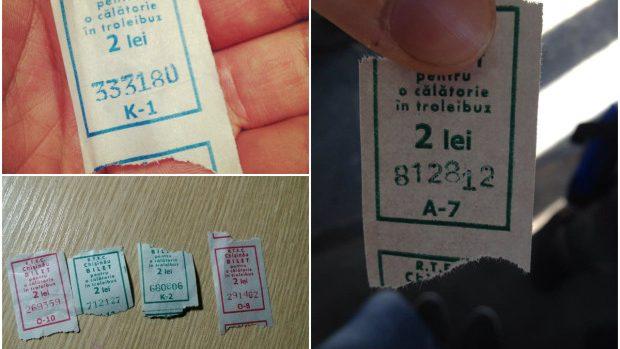 (foto) Cum chișinăuienii își caută norocul în biletele de troleibuz