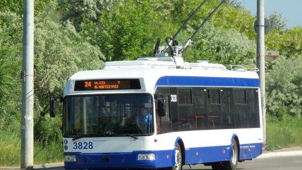 Ruta numărul 24 a fost suplimentată cu troleibuze noi