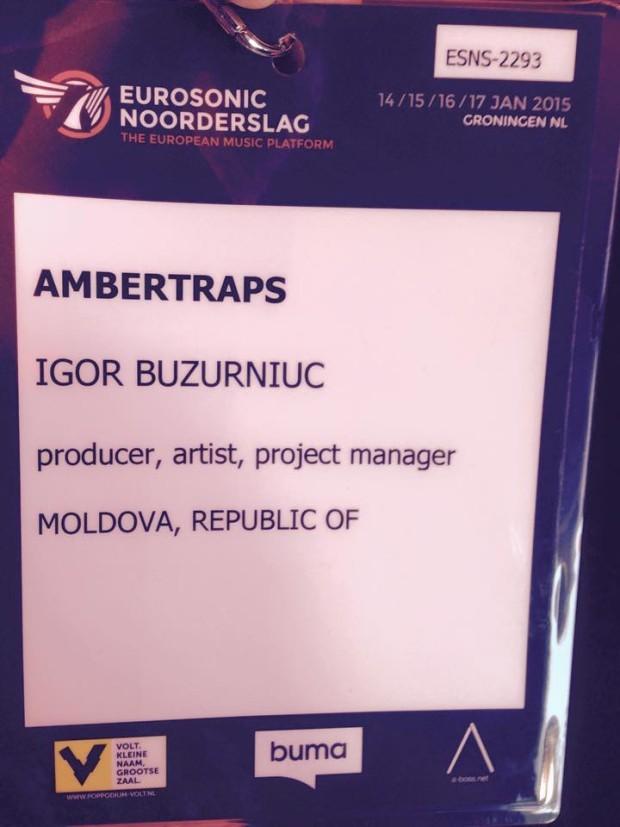 Formația AmberTraps la Festivalul Internațional Eurosonic Noorderslag. PC: Facebook/Igor Buzurniuc