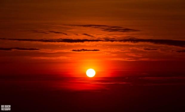 Răsărit de soare în dimineața zilei de 9 ianuarie, PC: Facebook/Igor Bogaciov