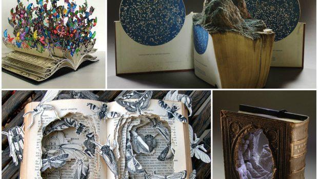 (foto) Sculpturi originale din paginile unor cărți vechi