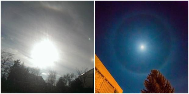 (foto) Halo – fenomen optic rar, observat pe cerul din Moldova