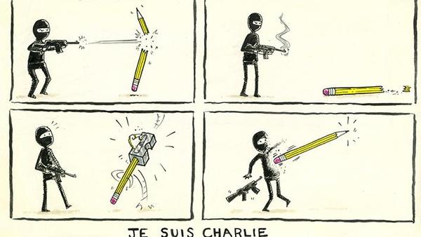 (foto) Reacția caricaturiștilor din toată lumea ca răspuns la atentatul de la Charlie Hebdo
