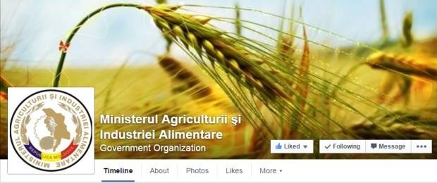 Design-ul paginii Ministerului Agriculturii