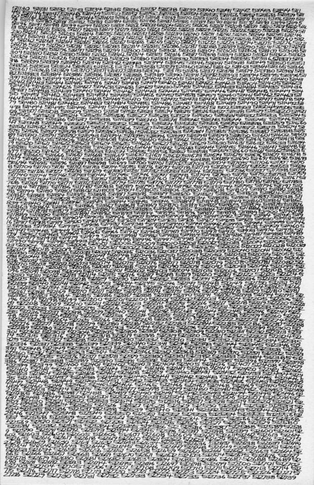 """Proiectul artistului """"Opalka 1965/1 - ∞"""" PC: ariom.ru"""