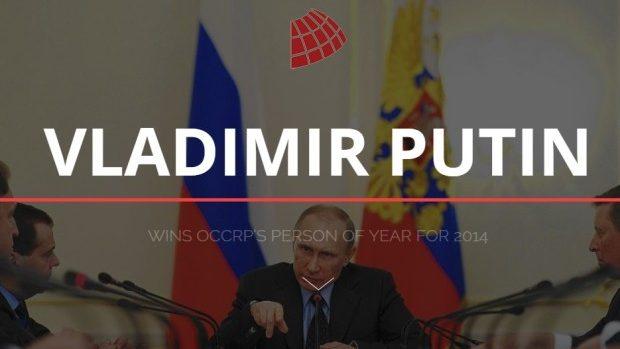 Vladimir Putin a fost declarat Omul Anului 2014 de către OCCRP