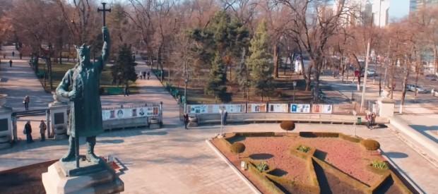 (video) Farmecul iernii în Chișinău într-un nou video filmat de la înălțime cu o dronă