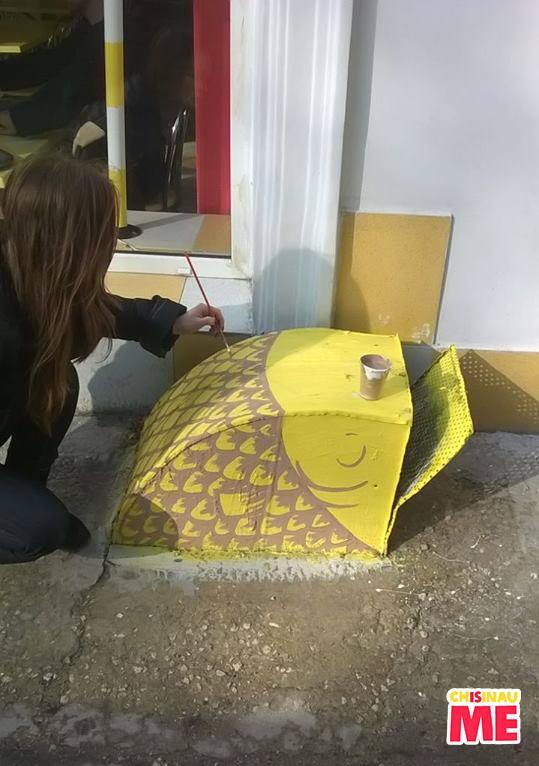 Peștișorul de aur - pictură stradală realizată de Chișinău Is Me. PC: Facebook/Chișinău Is Me