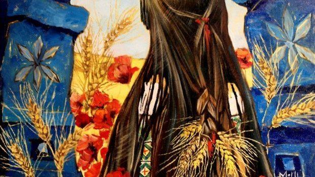 """(foto) """"Mândră, maci şi spicu' de grâu"""" – colecţia de picturi semnată MIHU"""
