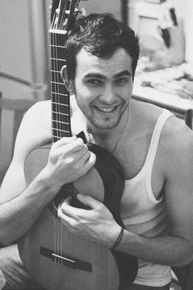 Tânărul muzician Mihail Sandu. PC: arhivă personală