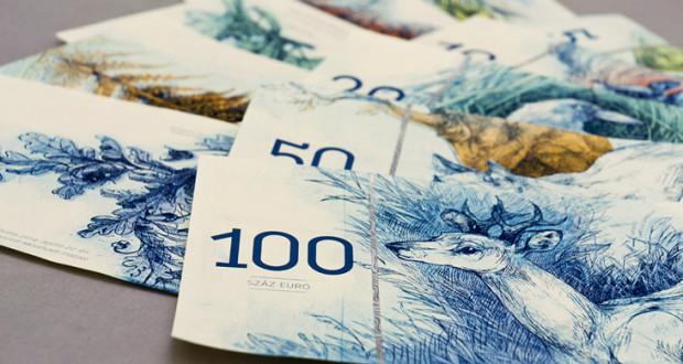 (foto) Design naturistic al bancnotei euro, creat de o studentă din Ungaria