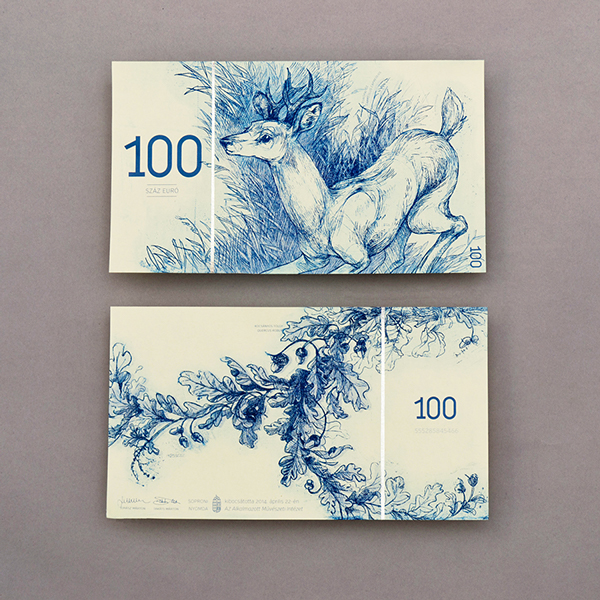 Bancnote realizate de Barbara Bernat. PC: behance.net
