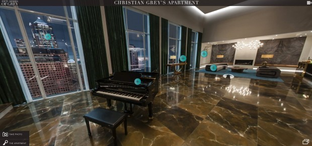 "Fă o excursie on-line prin apartamentul din filmul ""Fifty Shades of Grey"""