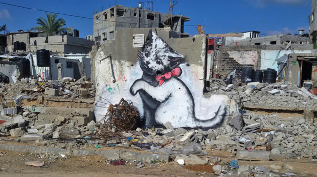 (foto, video) Celebrul graffer Banksy a realizat un documentar în Gaza