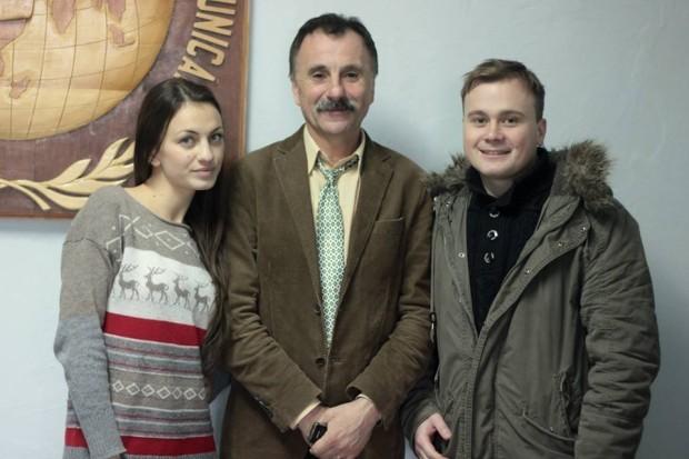 Constantin Șchiopu alături de studenți PC: Marina Scripnic