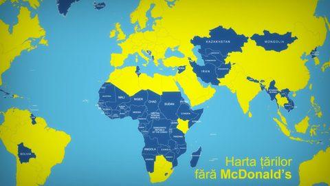 Turism extrem: Harta țărilor încă neatinse de McDonald's