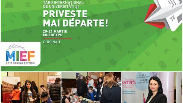 Târgul Internațional de Universități MIEF revine la Chișinău pe 20 – 21 martie