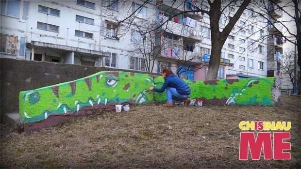 (foto) Crocodilul Ghena – o nouă creație urbană de la Chișinău Is Me