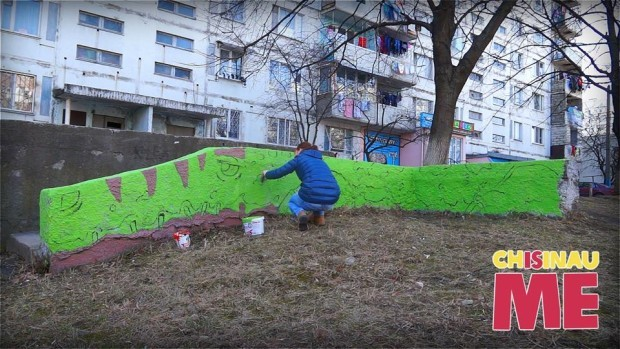 """Noua pictură numită """"Crocodil"""" de la Chișinău Is Me. PC: Facebook/Chișinău Is Me"""