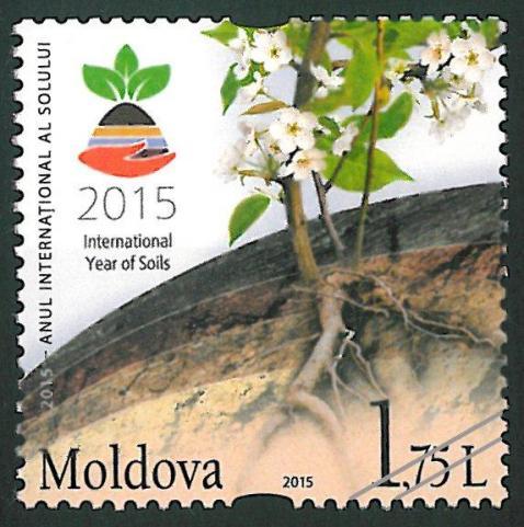 Marca poştală cu valoarea nominală de 1,75 L PC: posta.md