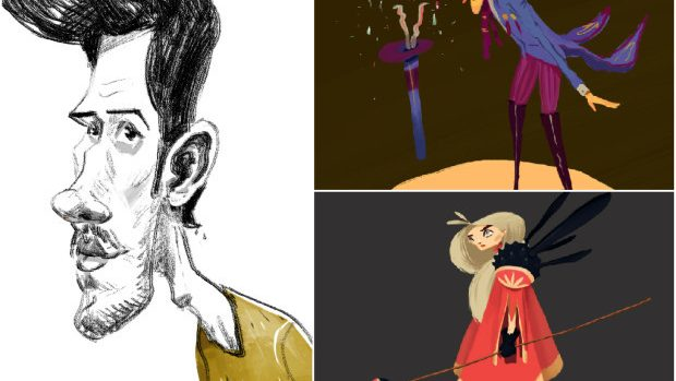 (foto) Octavian Curoșu, ilustrator: Tinerii se interesează tot mai mult de arta digitală