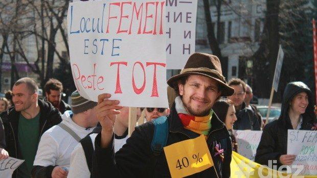 (foto) Marșul feministelor de 8 martie – Nu vrem flori, vrem drepturi egale