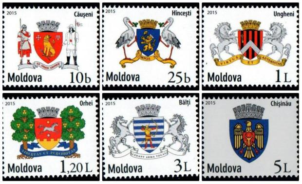 """seria de mărci poştale """"Uzuale"""" PC: posta.md"""