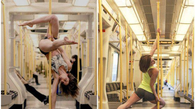 (foto) Simte pasiunea dansului la bară dintr-un metrou londonez