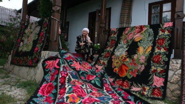 Faima covorului moldovenesc în bumbi a ajuns departe de hotarele țării, peste oceane