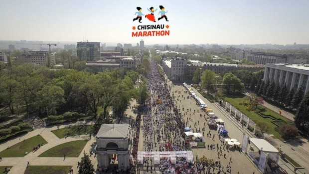 (video) Formidabil: Startul Maratonului Internațional din Chișinău filmat de la înălțime
