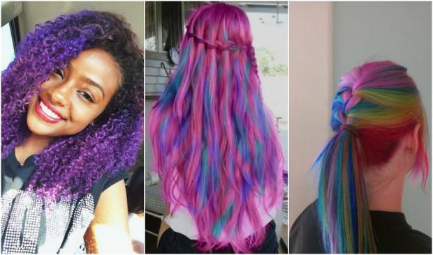 Păr multicolor