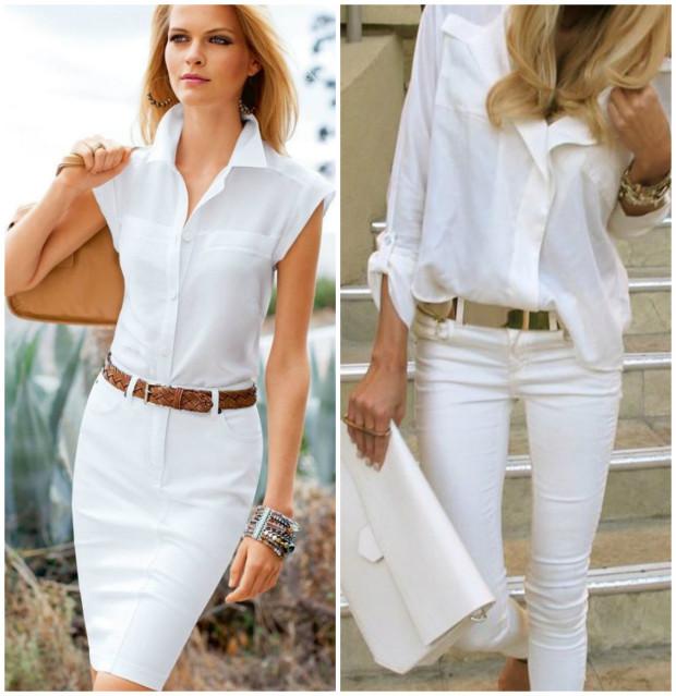 Două piese vestimentare albe