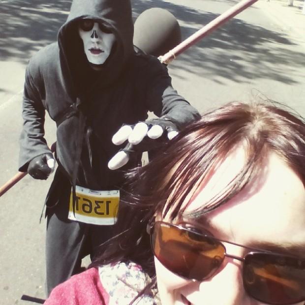Dji la Maratonul din Chișinău PC: Instagram/ Olga Cozacenco