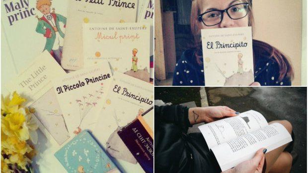 """(foto) Colecția multilingvă de cărți """"Micul Prinț"""" a unei tinere din Moldova"""