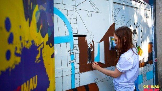 (foto) O nouă pictură marca Chişinău is Me a apărut în Capitală