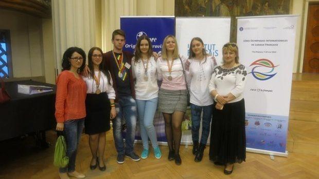 Toată echipa Moldovei a fost premiată la Olimpiada Internațională de Limba Franceză