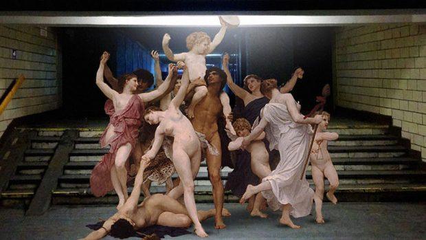 (foto) Zei și personaje mitice grecești pe străzile Kievului