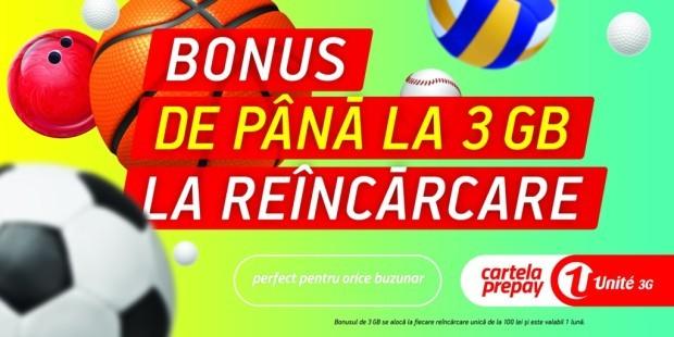 Unite 3G lansează cea mai generoasă ofertă de bonusuri la reîncărcare pentru utilizatorii Cartelei PrePay