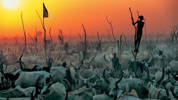 (foto) Nebănuita și misterioasa viață a tribului Dinka din Sudanul de Sud