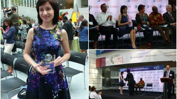 Maia Sandu a câștigat premiul Băncii Mondiale pentru responsabilitate socială