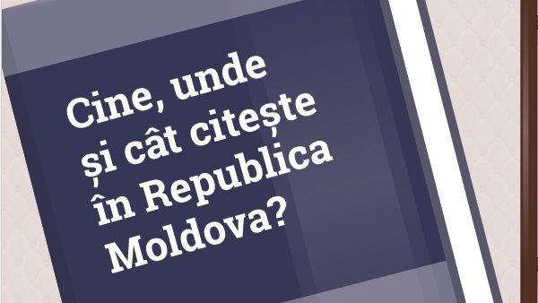 (infografic) Cititul în Republica Moldova: Cine sunt cititorii și unde aceștia citesc