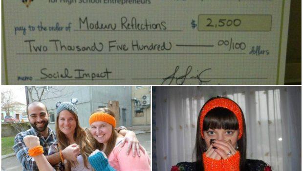 Moldova e vizibilă în SUA: Liceenele din Orhei care tricotează accesorii au câștigat un premiu de 2.500 de dolari