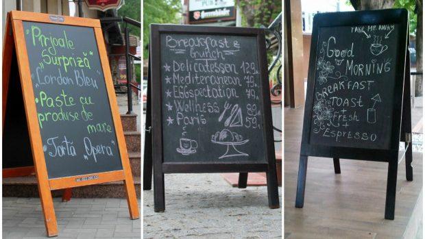 (foto) Europa pentru Moldova: În Chișinău publicitatea se scrie cu cretă colorată