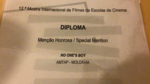 """Filmul moldovenesc """"Al nimănui"""" a luat mențiune specială la un festival în Portugalia"""