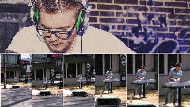 (foto, video) Cine este DJ-ul care a mixat în aer liber pe una din străzile Chișinăului
