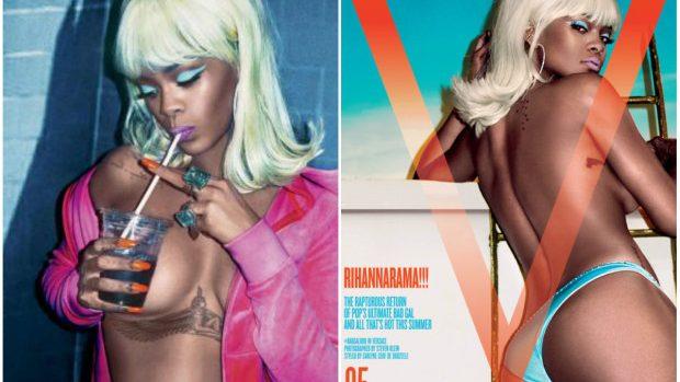 (foto) Rihanna apare dezgolită frumos într-un pictorial incitant